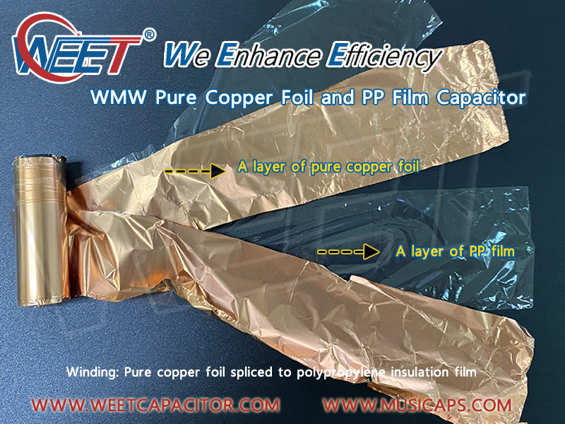 WEET-WMW-Audio-Capacitor-Winding-Pure-Copper-Foil-Spliced-to-Polypropylene-Insulation-PP-Film
